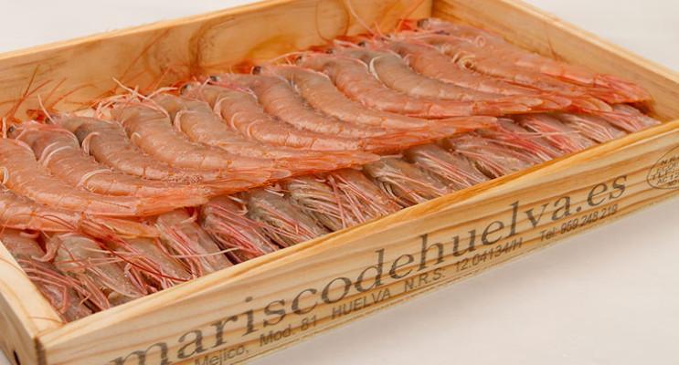 Caja de gambas de mariscodehuelva.es