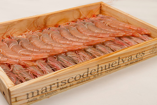 Caja de Gamba Blanca de mariscodehuelva.es